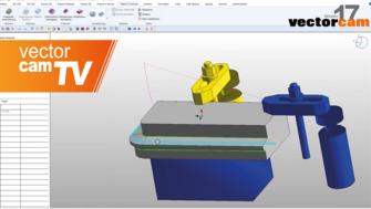 vectorcamTV: 5-axis simultaneous milling Projected curve